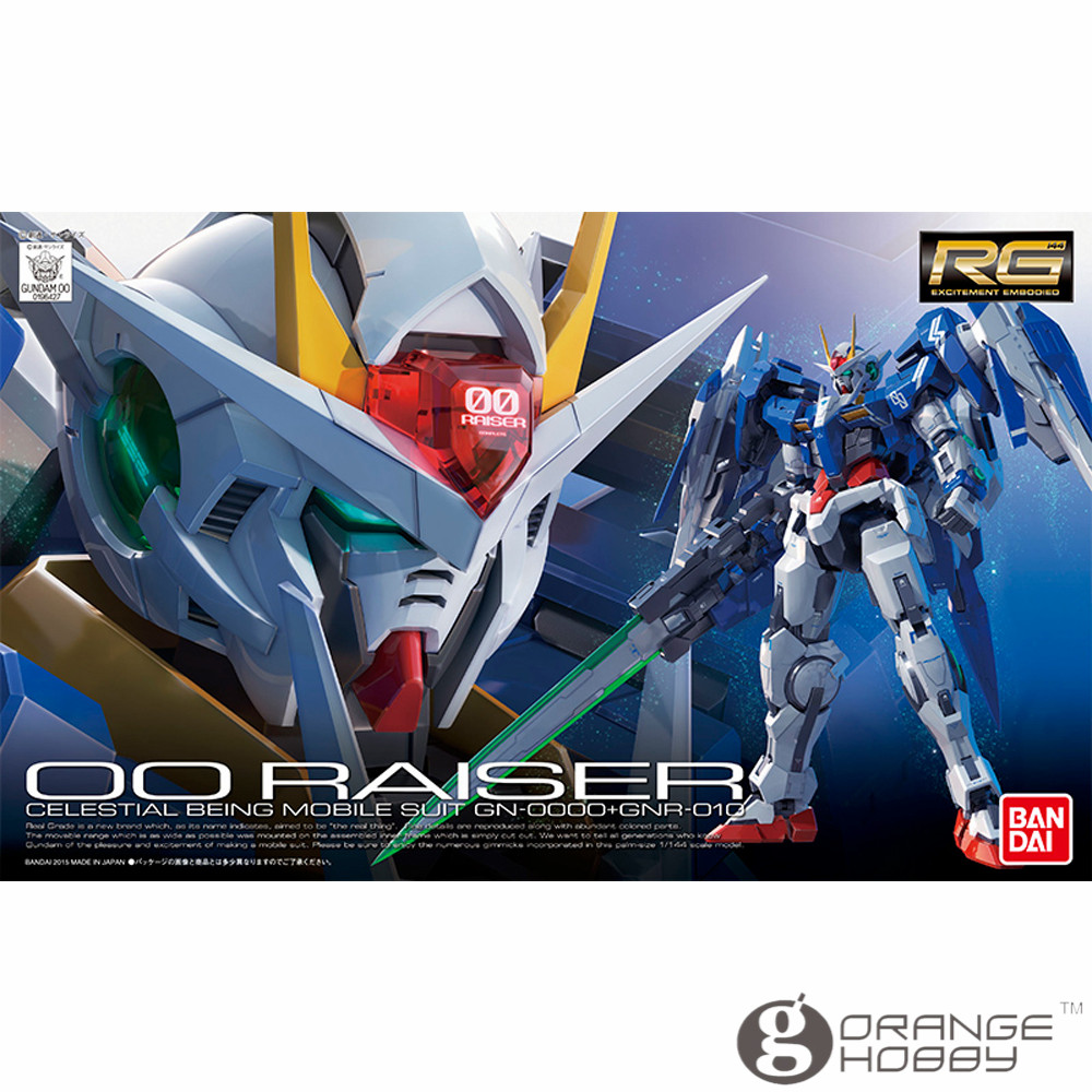OHS Bandai RG 18 1/144 GN-0000-GNR-010 OO Raiser Mobile Suit Assembly Model Kits oh цена
