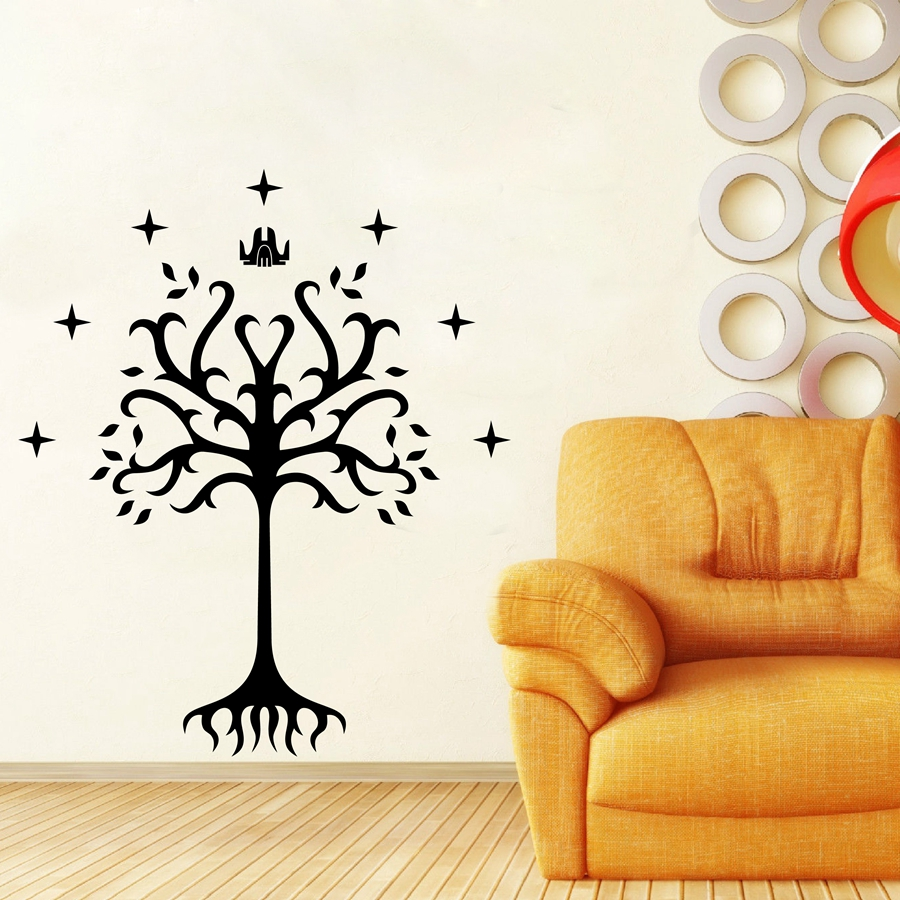 Tree of Gondor Vinyl Decal Sticker From Lord of the Rings for font b Car b