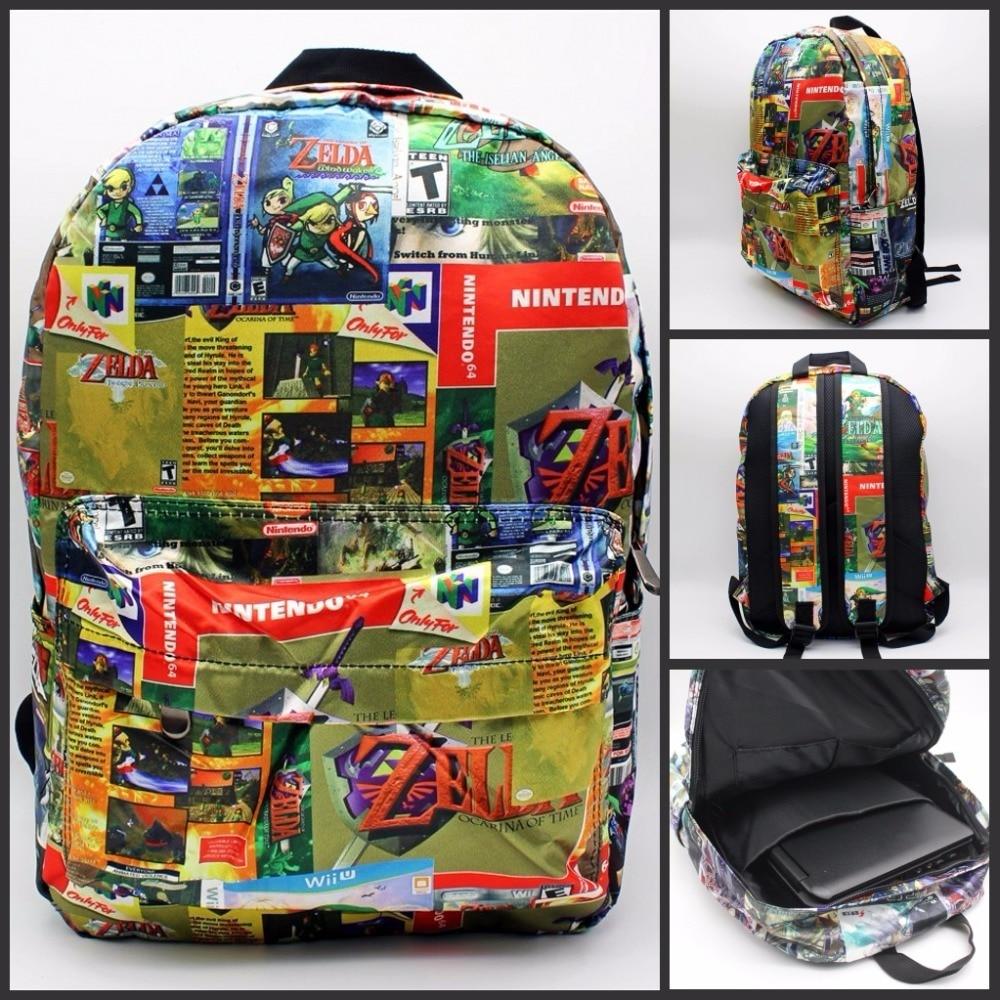 Nintendo игры Легенда о Zelda Окарины времени рюкзак печати мужская и женская сумка школьная сумка дорожная сумка