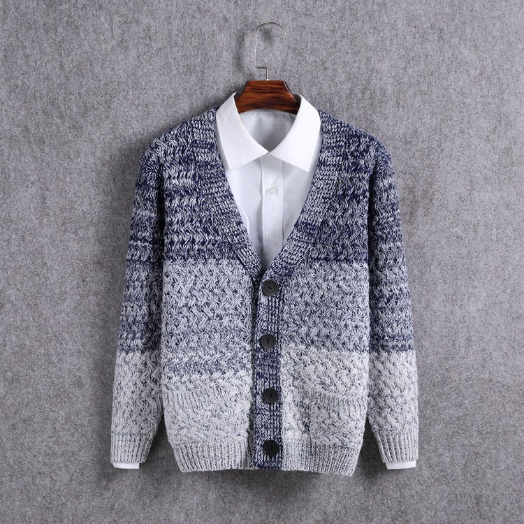 High Quality Mens Sweater New 2015 Autumn Winter Patchwork Cashmere Wool Cardigan Men Sweater Brand Casual V-Neck Mens Clothing (11)