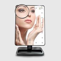 Bellylady Портативный touch Сенсор 22 светодиодов заполняющий свет HD площади косметические плоскости зеркало