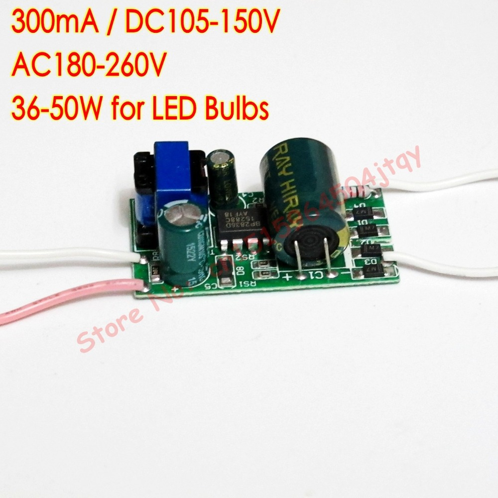 300ma Dc105v 150v 36 50w Led Driver 36w 38w 40w 42w 44w 45w 46w 48w Circuit 3w Triac Dimmable Constant Current Buy Power Supply Ac180v260v 220v For Ceiling Lamp In Lighting Transformers From Lights