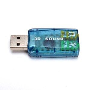 Image 2 - 800X USB a 3D Audio USB adaptador De tarjeta De sonido externo 5,1 canales sonido micrófono profesional 3,5mm interfaz De Audio