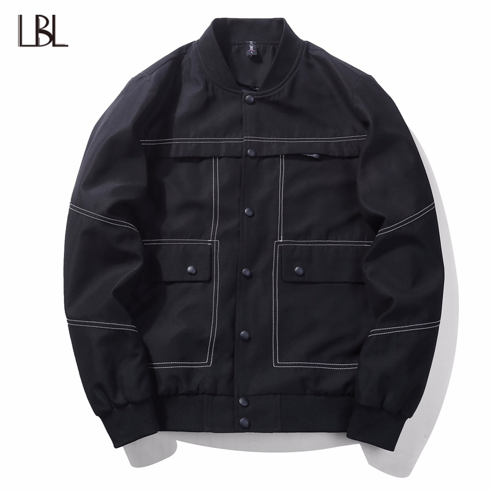 Europe Size Men Bomber Jacket Casual Mens Hip Hop Fashion Streewear Jackets and Coats Windbreaker Outwear Brand Clothing Men