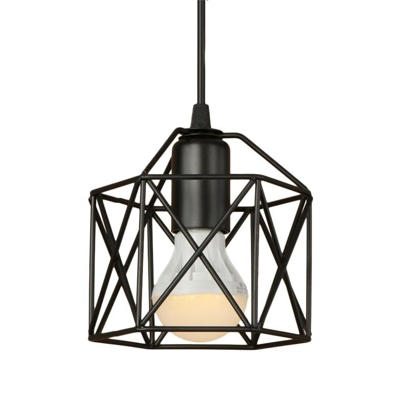 Simple Loft Style Iron Droplight Industrial Vintage LED Pendant Light Fixtures E27 Retro Hanging Lamp Home Decor Lighting