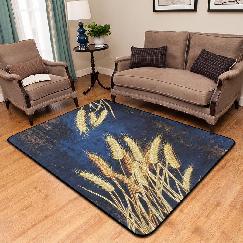 120x180 CM épaissir doux tapis Style pastorale tapis grand salon tapis bleu chambre tapis thé Table rectangulaire tapis de sol Pad