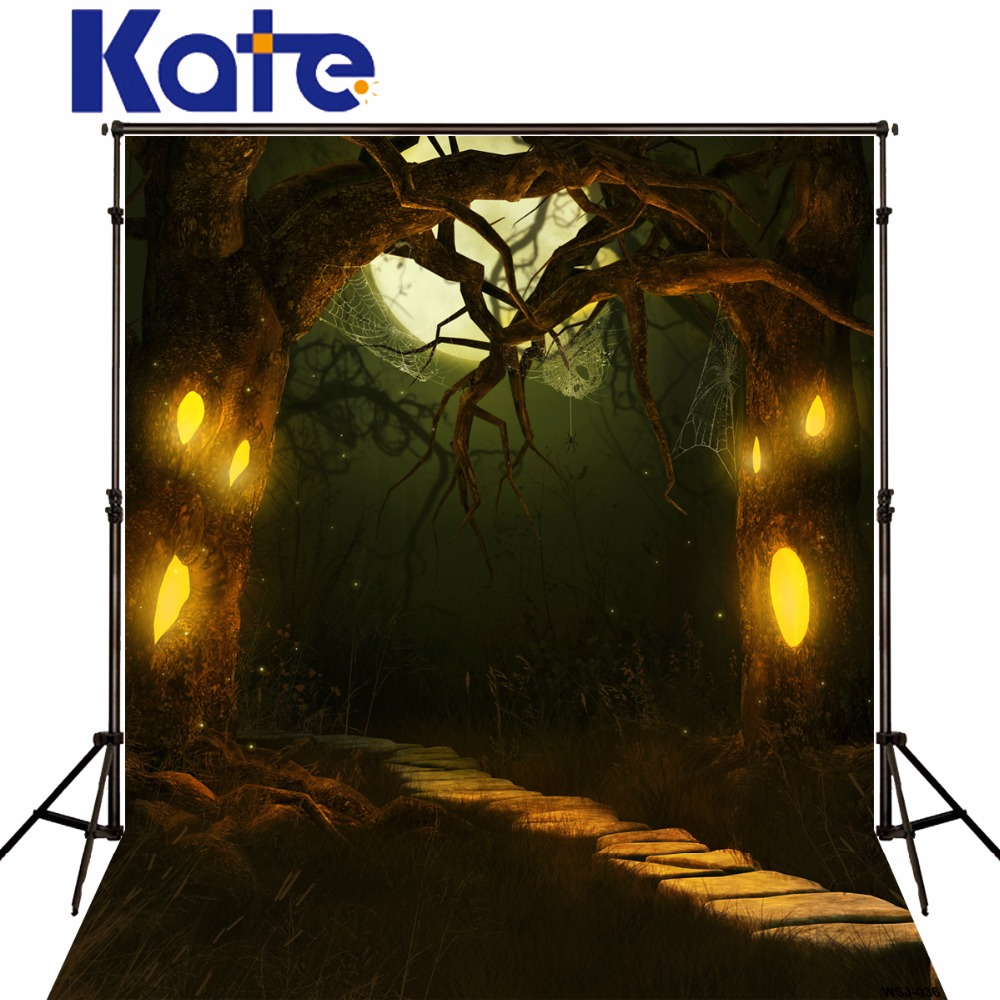 Kate PhotographBackgrounds Enchanted Forest Ghost Tree Spider Web Halloween Backdrops Camera Fotografica for Photo Studio the halloween tree