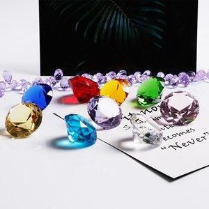 Image 5 - 30mm 다채로운 크리스탈 다이아몬드 행복 한 생일 웨딩 장식 이벤트 파티 용품 홈 장식 액세서리 장식품