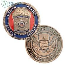 Новое поступление 1/3/5/10 шт./лот США Secret Услуги США Министерство национальной безопасности наградная монета