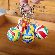 Hot Sport Beach Volleyball PVC Keychain Key Chains Chain Ring Football Beach Ball Key Ring Gifts Men Jewelry Keyring Keychains