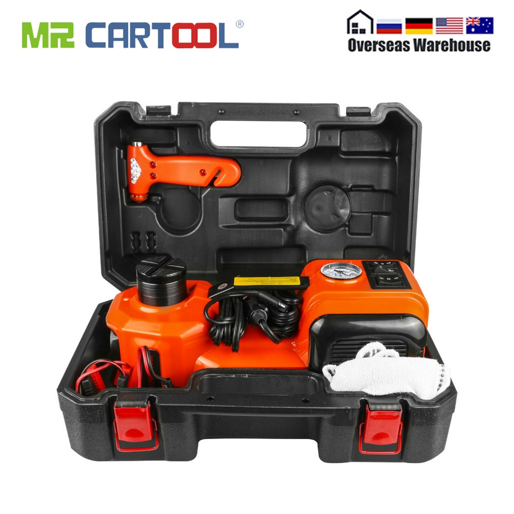 Car Electric Jack Hydraulic Floor 12V DC 5 Ton 11023lb Lift Scissor Jack Repair Tool Auto Emergency Roadside Tire Change Lifting