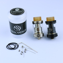 PHENOMENON PHUSM RTA Atomizer E Cigarette 24mm Diameter 3.5mm Rebuildable Tank Adjustable airflow RTA for 510 Box Mod vape Kit original thc proto rta tank with vape top filling 5ml capacity 304ss rebuildable suitable for e cigarette box mod vs zeus x rta