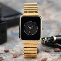 Elegant Women Bracelet Watch Creative Rectangular Dial Modern Ladies Dress Luxury Golden Wristband Rich Female Quartz