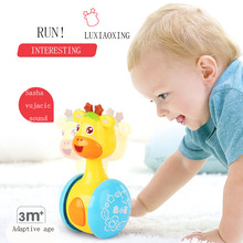 Baby Rattles Tumbler Doll Детские игрушки Музыка Обучение Образование Игрушки Детский подарок Playthings Kids Gifts Cartoon Duck