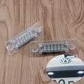 1pair New 18 LED License Number Plate Light Lamp For VW T5 Caddy Golf Passat Touran Jetta Skoda Super White 12V