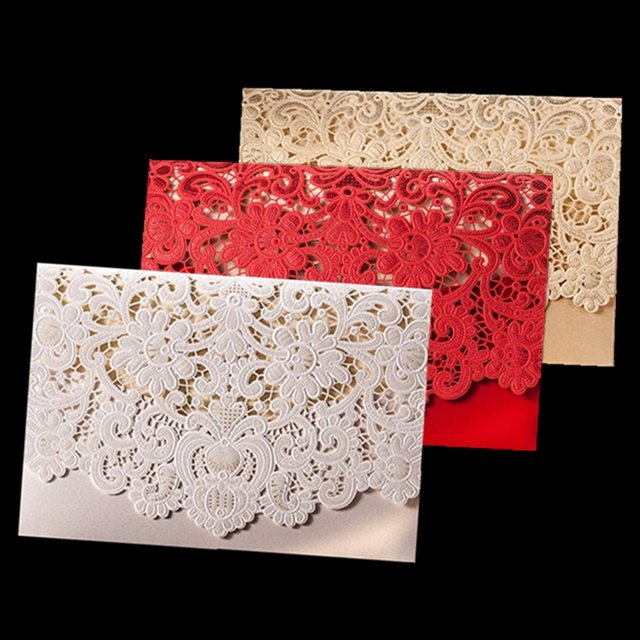 Online shop 50pcs rustic wedding supplies red white vintage 50pcs rustic wedding supplies red white vintage luxurious elegant golden laser cut wedding invitation card with stopboris Image collections