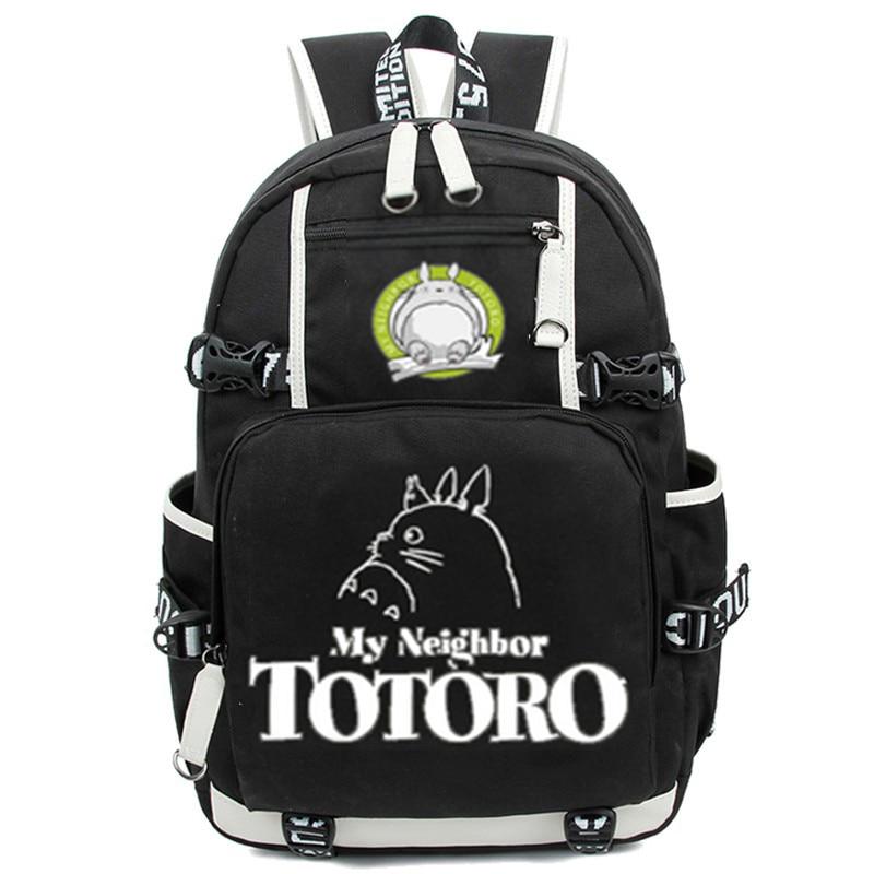 Anime Totoro School Bags Backpack My Neighbour Totoro Luminous Students Bookbag Laptop Schoolbags Rucksack Free Shipping #6