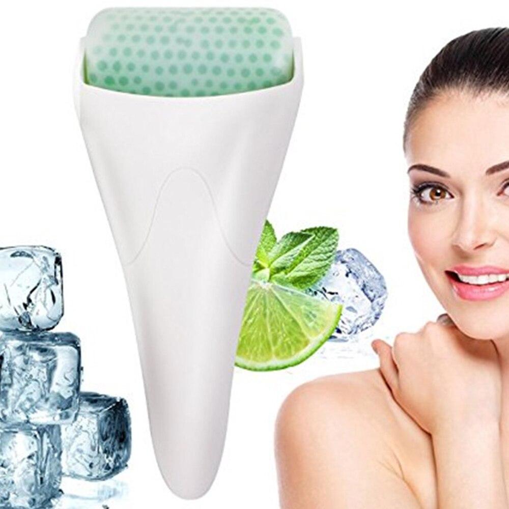 Ice Roller Skin Cooler For Face Body Massage Facial Skin Preventing Wrinkles Iced Wheel Cold Treatment Shrink Pores DR Derma