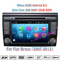 Winca S200 Android 8.0 Car PC DVD Player For Fiat Bravo 2007 2008 2009 2010 2011 2012 Stereo GPS Navigation Magnitol 2 Din Video