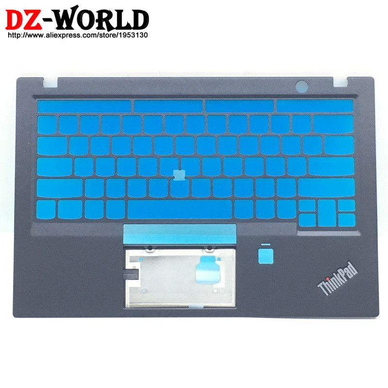 New Original for ThinkPad X1 Carbon 5th Keyboard Bezel Palmrest Cover US Version w/o Touchpad with Fingerprint Hole SM10N01551 gzeele new for lenovo thinkpad s1 yoga keyboard bezel palmrest cover with touchpad and connecting cable 00hm067 00hm068 black c