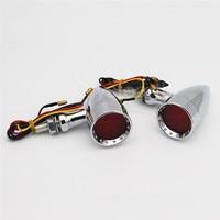 2pcs Motorcycle Bullet Style LED Turn Signals Indicator Light Lamp For Honda CBR1000RR CBR600RR Shadow 1100 VLX 600