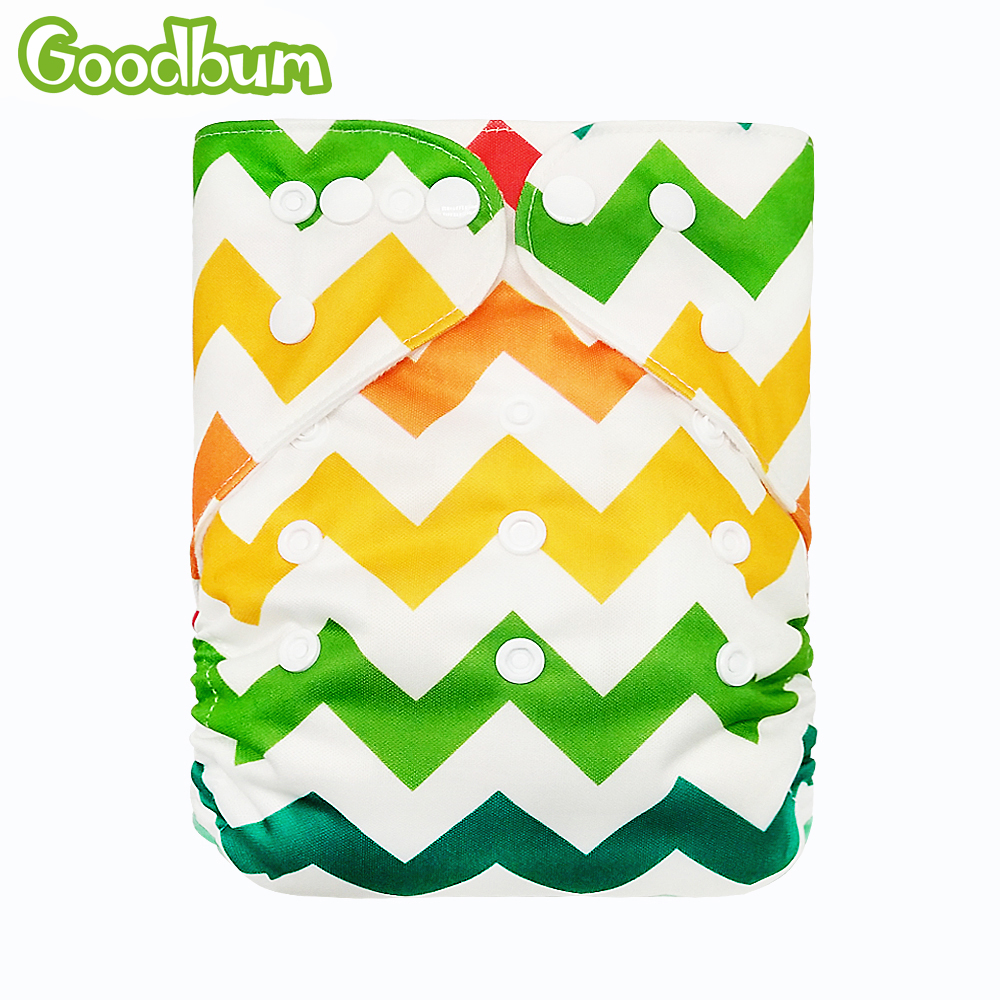 Goodbum Baby Washable Reusable Cloth Pocket Nappy Diaper One Size Cover Adjustable Wrap Nappy/Diaper Only (No Insert) Unisex