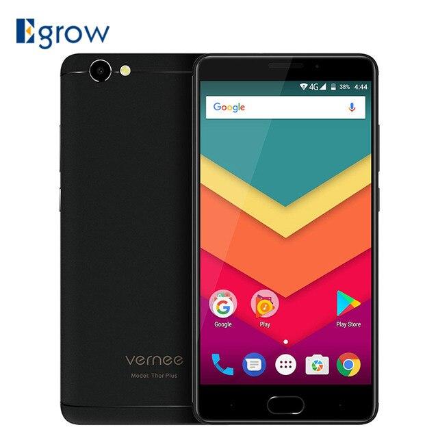 "Vernee Thor Plus 6200mAh Fingerprint ID Smartphone Android 7.0 MTK6753 Octa Core 5.5"" HD Cell phones 3GB+32GB 13MP Mobile Phone"