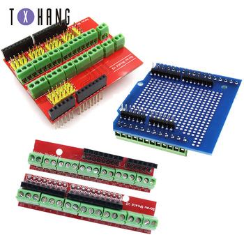 цена на Screw Shield V1 terminal V2/V3 expansion board is compatible UNO R3 Interactive Media Moudle for arduino UNO