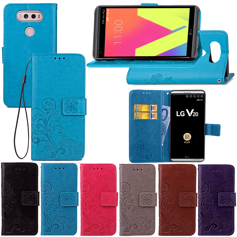 For LG V20 Case Wallet Flip Stand PU Leather Cover Phone Bags Cases For LG V20 H990N Luxury Magnetic Dirt Resistant Coque Bags