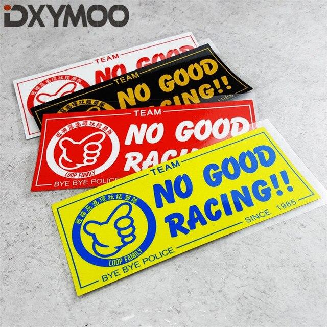 1 piezas estilo de coche cinta de vinilo Japón No bien las carreras desde 1985 Lazo de la familia de la motocicleta decorar pegatinas 18x8 cm