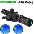 Снайпер NT1-4 × 28GL охотничьи прицел Регулируемый Красный охотничий свет тактический прицел оптическая винтовка прицел быстрый фокус