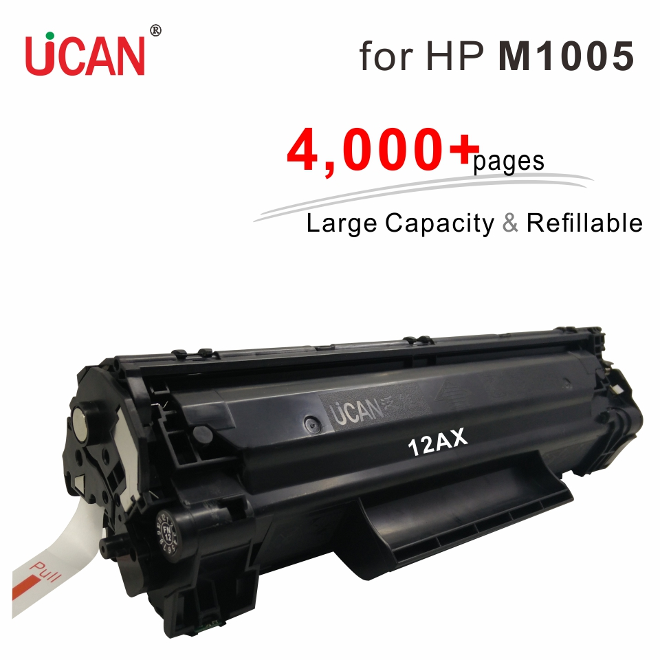 4000 pages Large Capacity Refillable 12a Q2612a Toner Cartridges for Hp LaserJet M1005 M1300 M1319f MFP Printer