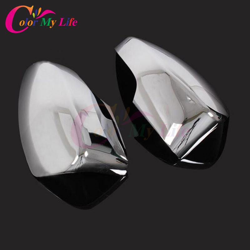 Color My Life ABS Chrome Rear View Mirror Protection Cover Rearview Mirror Decoration Sticker for Ford Ecosport 2012 - 2017 sncn inflexible acrylic rearview mirror rain gear shield rear view mirror anti rain cover for bmw x5 e70 2007 2008 2011 2012