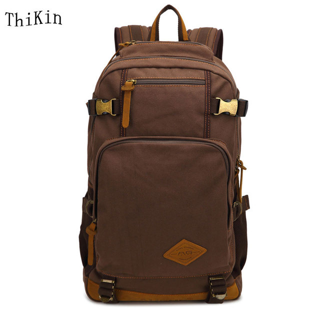 Augur To 15Laptop Canvas School Bags For Teenage Boys College Student Computer Book Bag