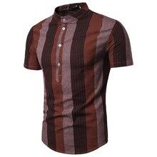 Loldeal мужская хлопковая Повседневная полосатая Повседневная приталенная рубашка