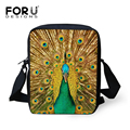 Mini Animal Messenger Bag for Women Female Zoo Peacock Print Casual-bag Cute Owl Crossbody Bag Small Kids Shoulder Handbag