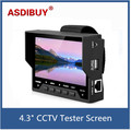 480x272 Resolution PAL/NTSC 12V 0.5A Power Output 4.3 Inch CCTV Test Monitor Wrist type built in Battery