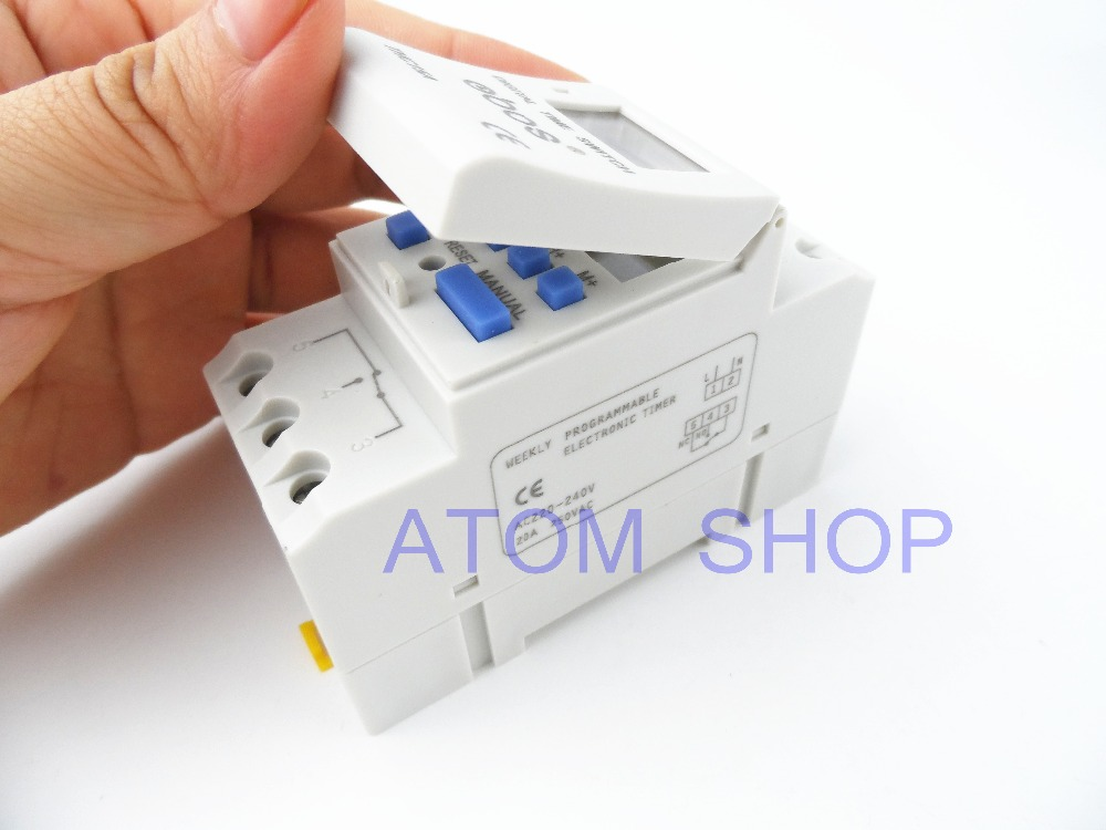 THC15A zb18B timer switchElectronic Weekly 7Days Programmable Digital TIME SWITCH Relay Timer Control AC 220V 30A Din Rail Mount electronic light switch weekly programmable timer digital switch relay timer controller for controlling road lamp neon light