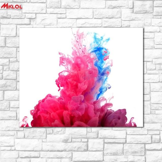 Grand Art Rouge Et Bleu Symphonie Peinture Peinture Pour Salon Chambre  Décoration De La Maison Peinture