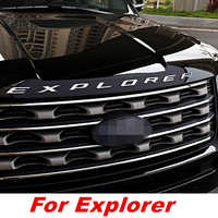 CAR CHROME BONNET EMBLEM 3D LOGO ALPHABET STICKER FOR FORD EXPLORER 2010- 2018 ACCESSORIES CAR STYLING CAR ACCESSORIES