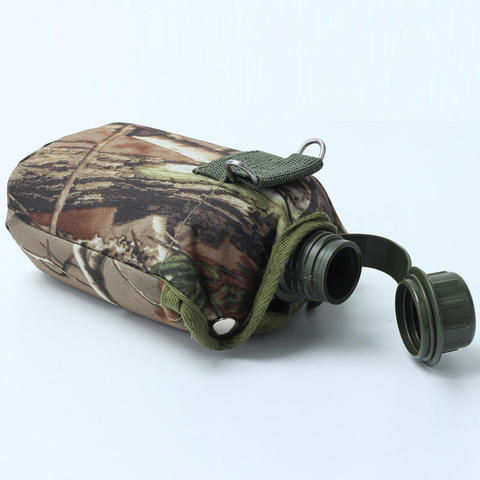 Hot 860ml Water Bottles Camouflage Cloth Army Green Plastic Sports Water Bottle for Survival Kitchen Home Kettle Outdoor Sports Islamabad