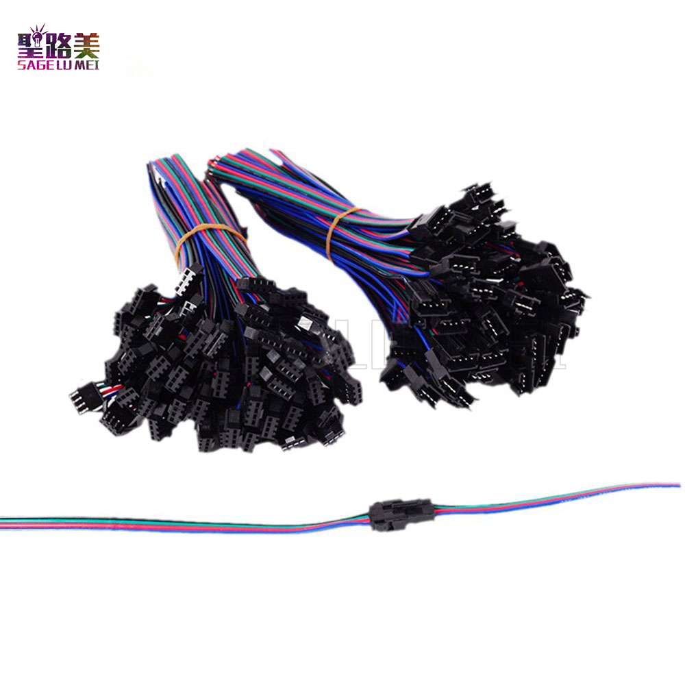 2pin 3pin 4pin 5pin led connector Male/female JST SM 2 3 4 5 Pin Plug Connector Wire cable for led strip light Lamp Driver CCTV 2pin 3pin 4pin led connector male female jst sm 2 3 4 pin plug connector wire cable for led strip light lamp tape driver cctv