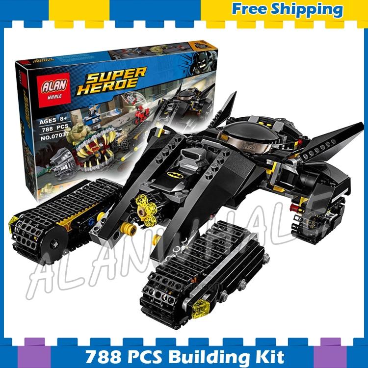 788 pièces Super héros Batman film tueur Croc égout Smash Bat Tank 07037 modèle blocs de construction cadeaux ensembles compatibles avec lego