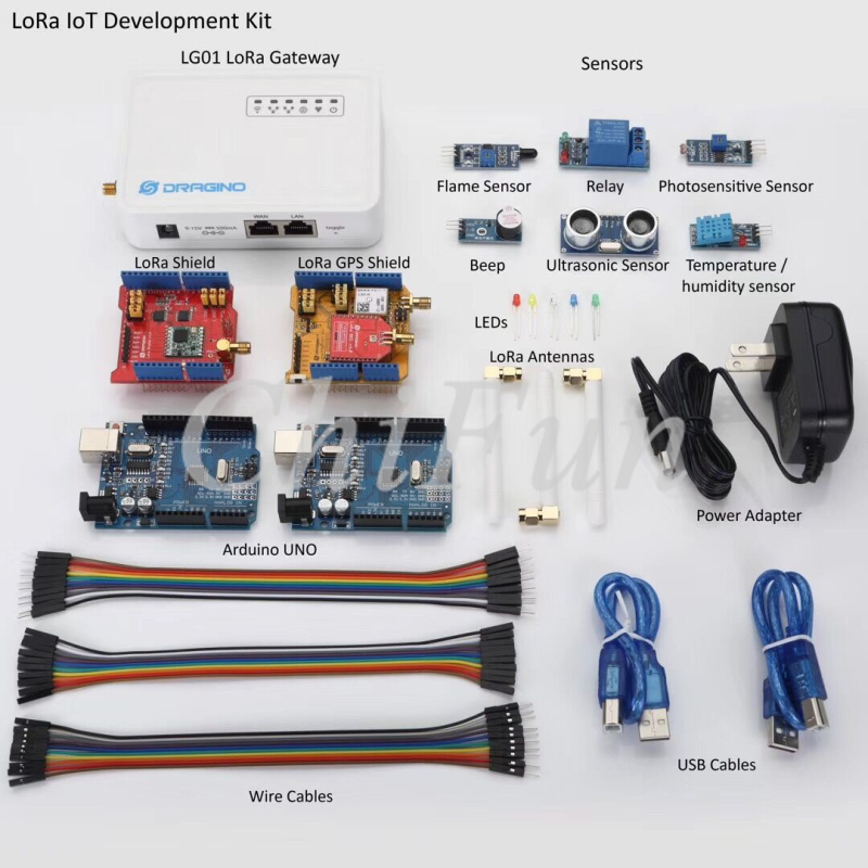 Freeshipping LoRa IoT Development Kit 433MHZ 868MHZ 915MHZ Internet of things kits