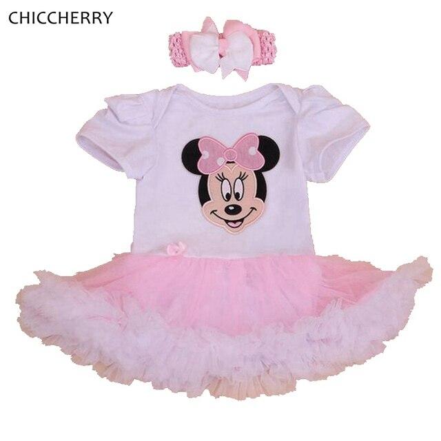 12e15110e2eea Fantasia Minnie Newborn Baby Girl Dresses Headband Vestidos Infantis Robe Bebe  Fille Infant Dress Toddler Birthday
