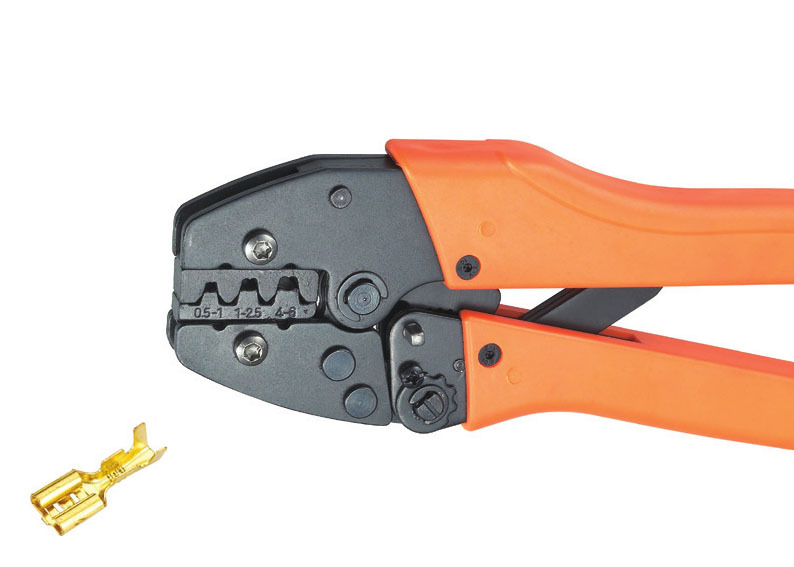 Ratchet crimping plier 0.5-6.0mm2 AWG 20-10 Dedicated cable connector crimping tool