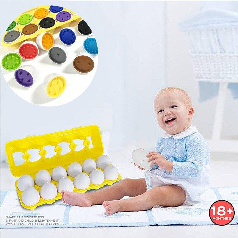 Para Niño Juguete Niños Huevos 12 De Forma Piezas Número Color Juguetes Contar Los Conjunto Y 7f6Ybyg