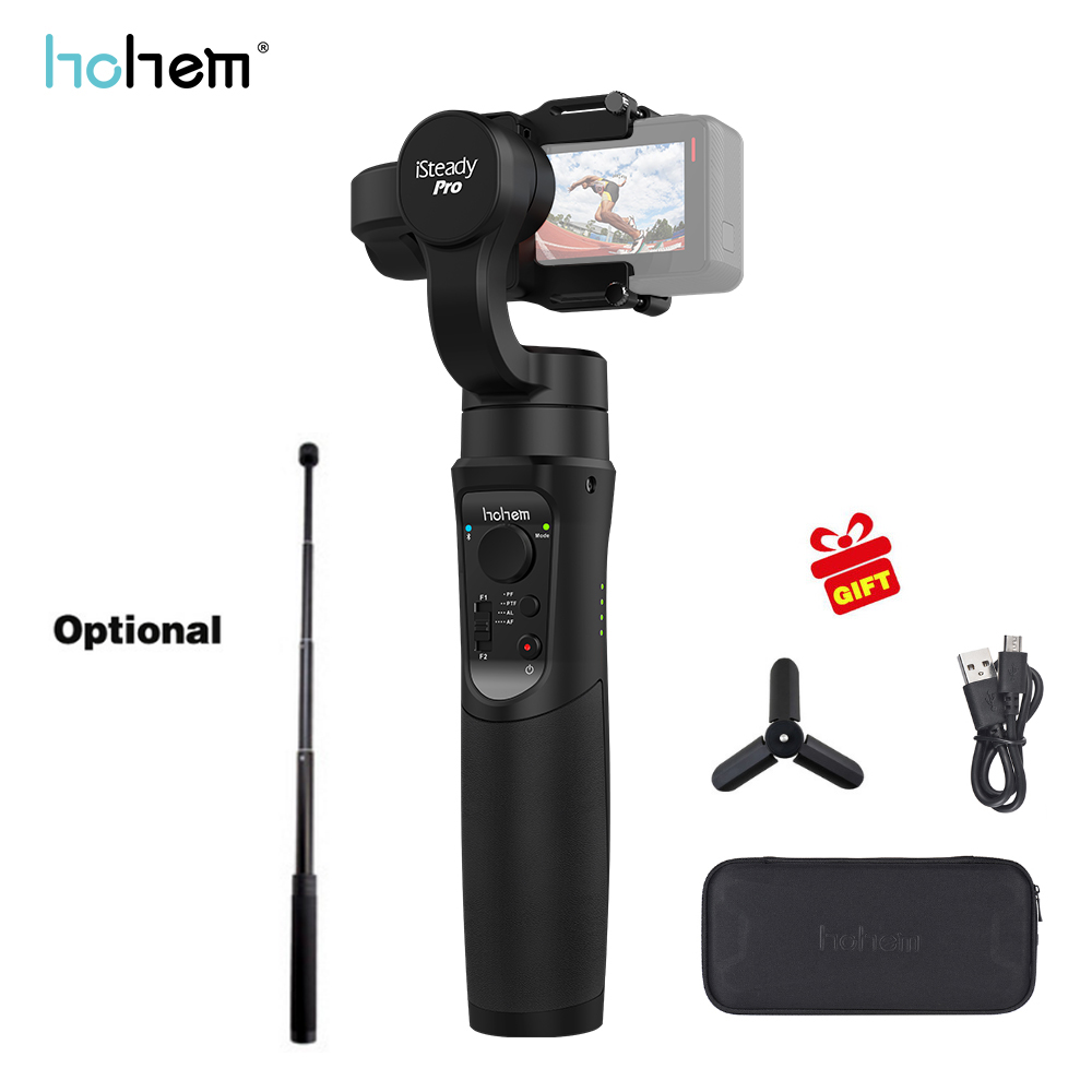 Hohem iSteady Pro Handheld 3-Axis Gimbal Stabilizer for action camera Gopro 6 5 4 RX0 xiaomi yi 4k PK zhiyun smooth 4 feiyu g6 feiyu spg plus 360 degree handheld gimbal stabilizer bluetooth for gopro hero 5 4 3 xiaomi yi action camera and smartphones