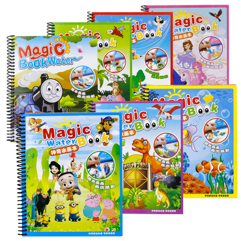 Magic Water Drawing Book Animals Painting Coloring Copy Graffiti Album Board Children Early Educational Toy In Toys From