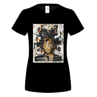 GILDAN Arrival Crew Neck Short Sleeve Tall Jean Michel Basquiat Self Portrait T Shirt